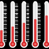 Thermostat 1 , 2 , 3 , 4 , 5 , 6 , 7 et 8 en degrés