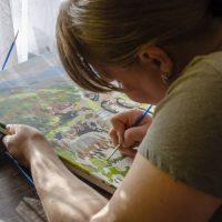 La peinture par numéros pour se sensibiliser à l'art