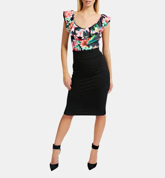 jupe-crayon-taille-haute